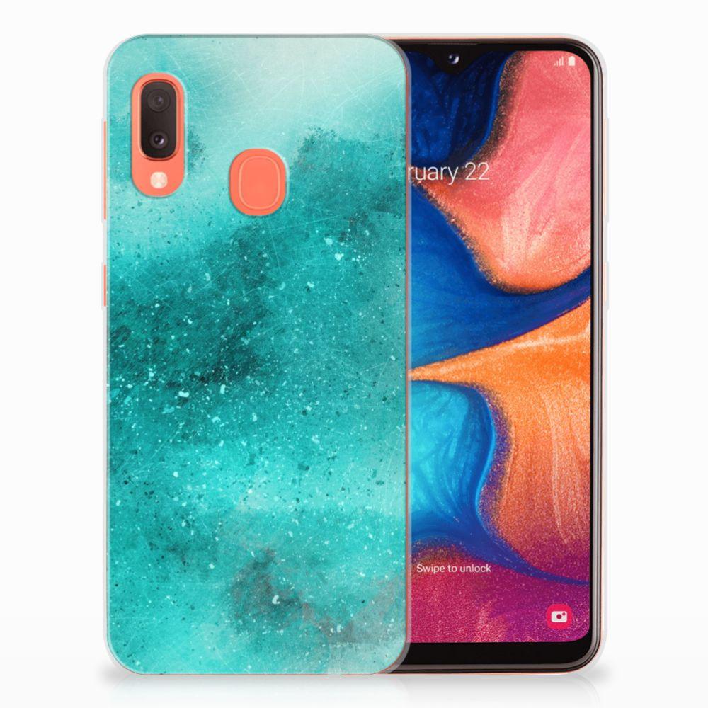 Hoesje maken Samsung Galaxy A20e Painting Blue