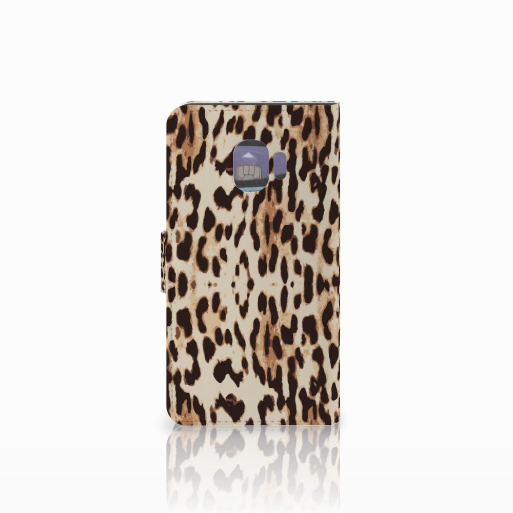 Samsung Galaxy J2 Pro 2018 Telefoonhoesje met Pasjes Leopard