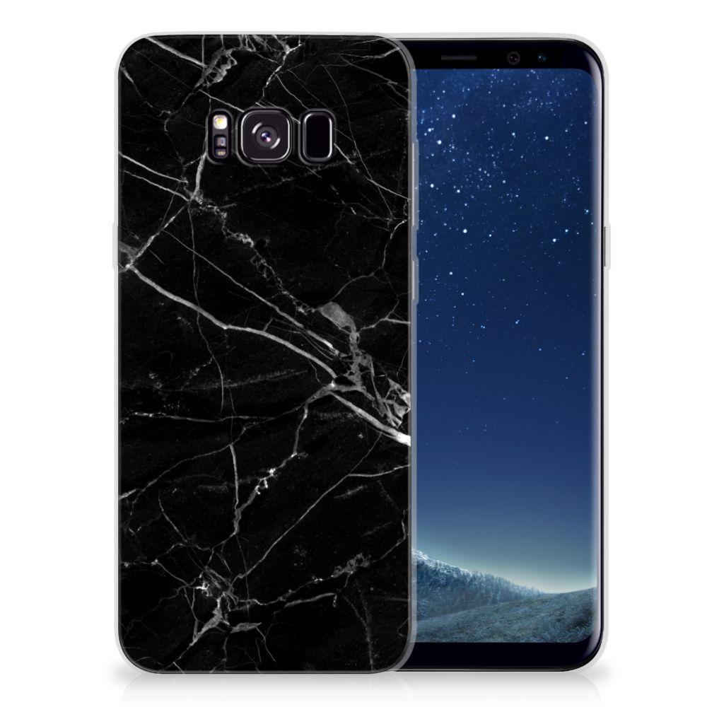 Samsung Galaxy S8 Plus TPU Siliconen Hoesje Marmer Zwart