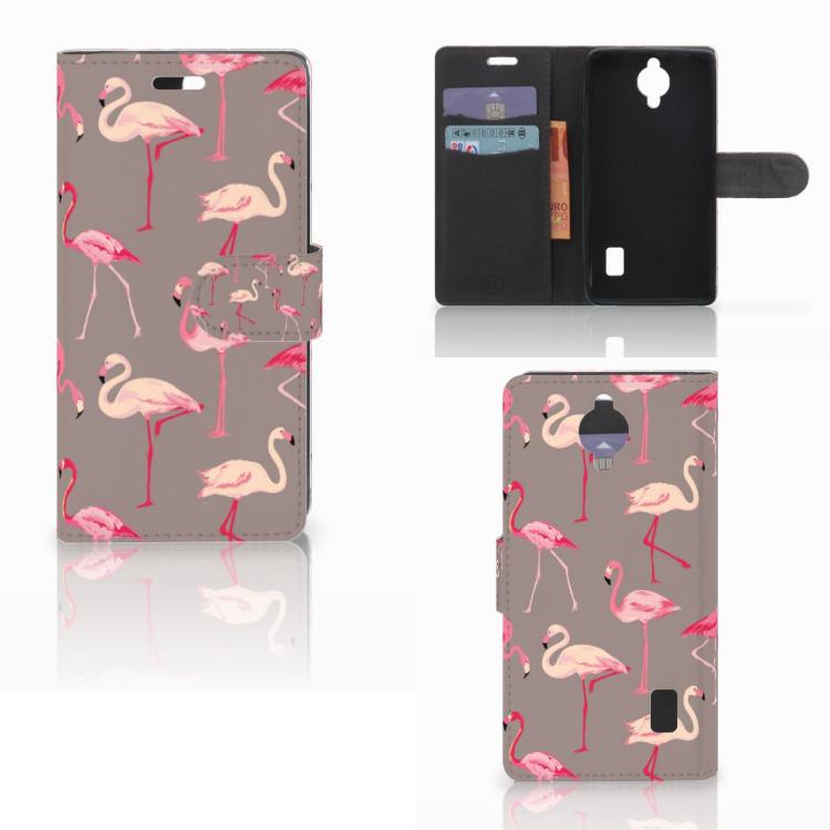 Huawei Y635 Telefoonhoesje met Pasjes Flamingo