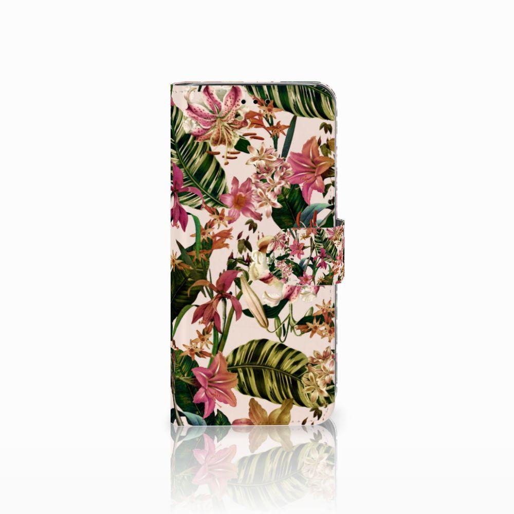 Samsung Galaxy A6 2018 Uniek Boekhoesje Flowers