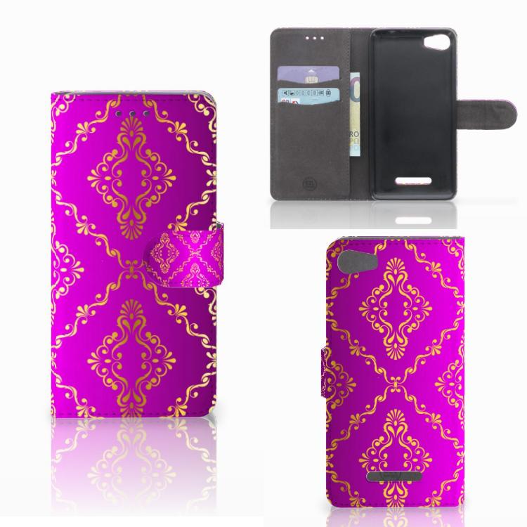 Wallet Case Wiko Lenny 2 Barok Roze