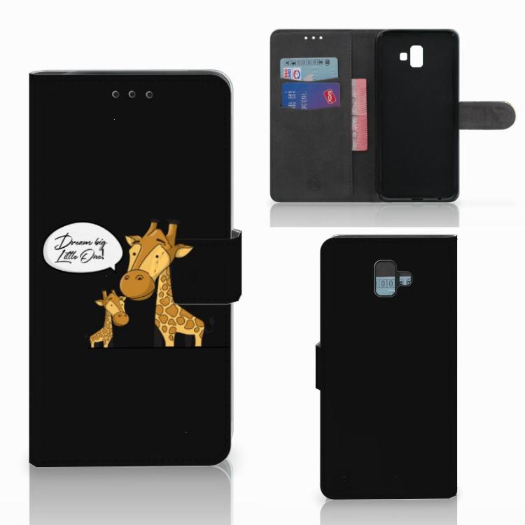 Samsung Galaxy J6 Plus (2018) Leuk Hoesje Giraffe