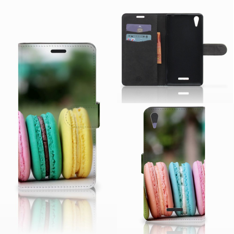 Sony Xperia T3 Book Cover Macarons