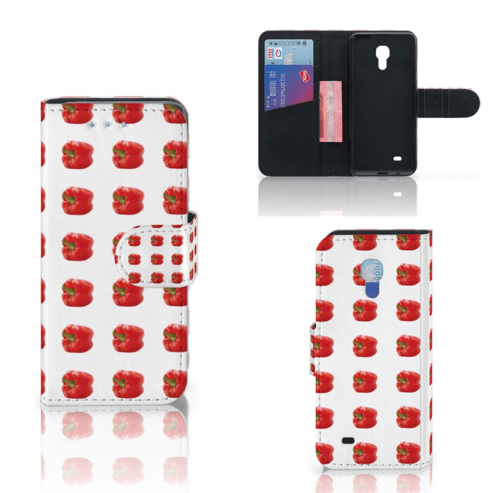 Samsung Galaxy S4 Mini i9190 Book Cover Paprika Red