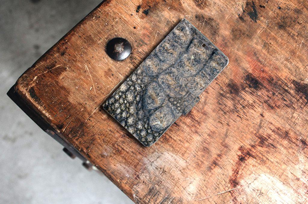 Huawei Y625 Telefoonhoesje met Pasjes Krokodillenprint