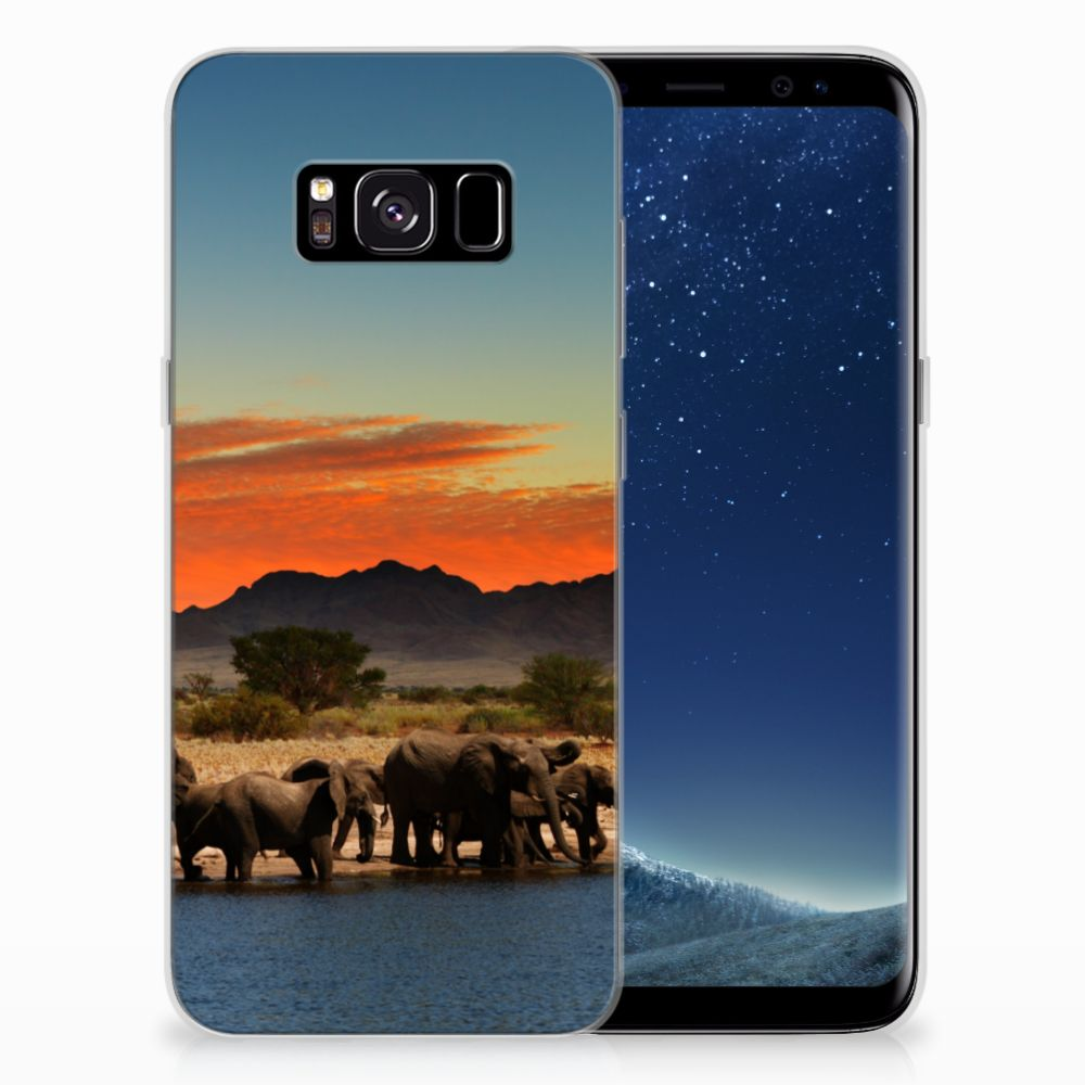Samsung Galaxy S8 TPU Hoesje Olifanten