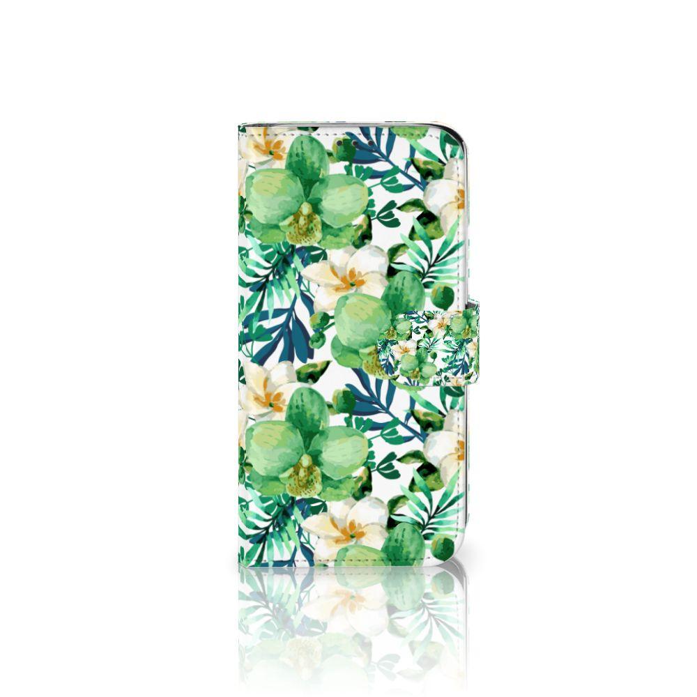 Xiaomi Mi A2 Lite Uniek Boekhoesje Orchidee Groen