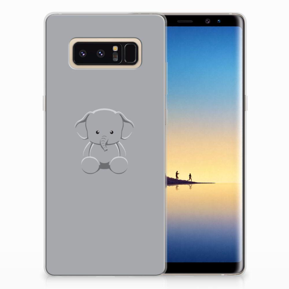 Samsung Galaxy Note 8 Uniek TPU Hoesje Baby Olifant