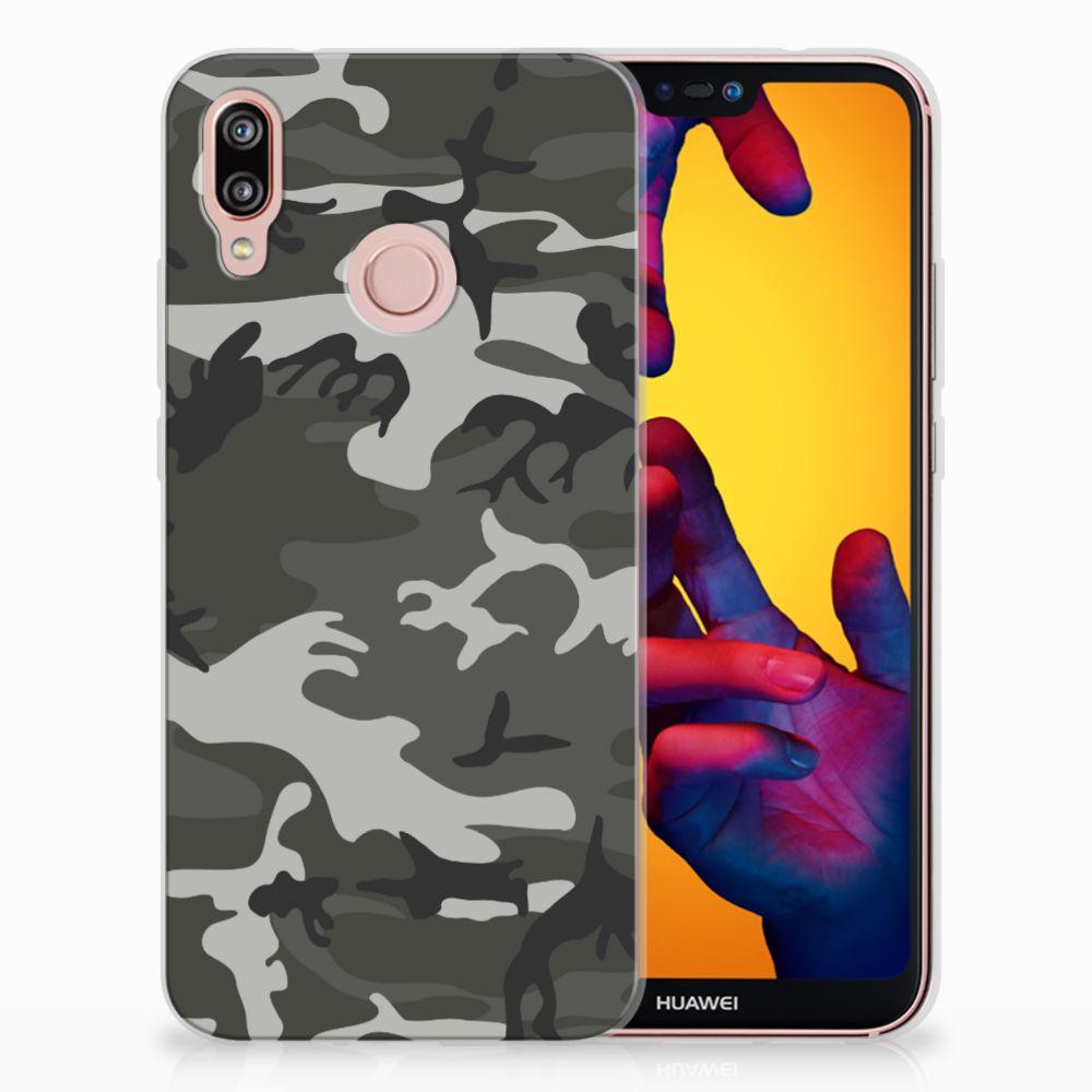 Huawei P20 Lite Uniek TPU Hoesje Army
