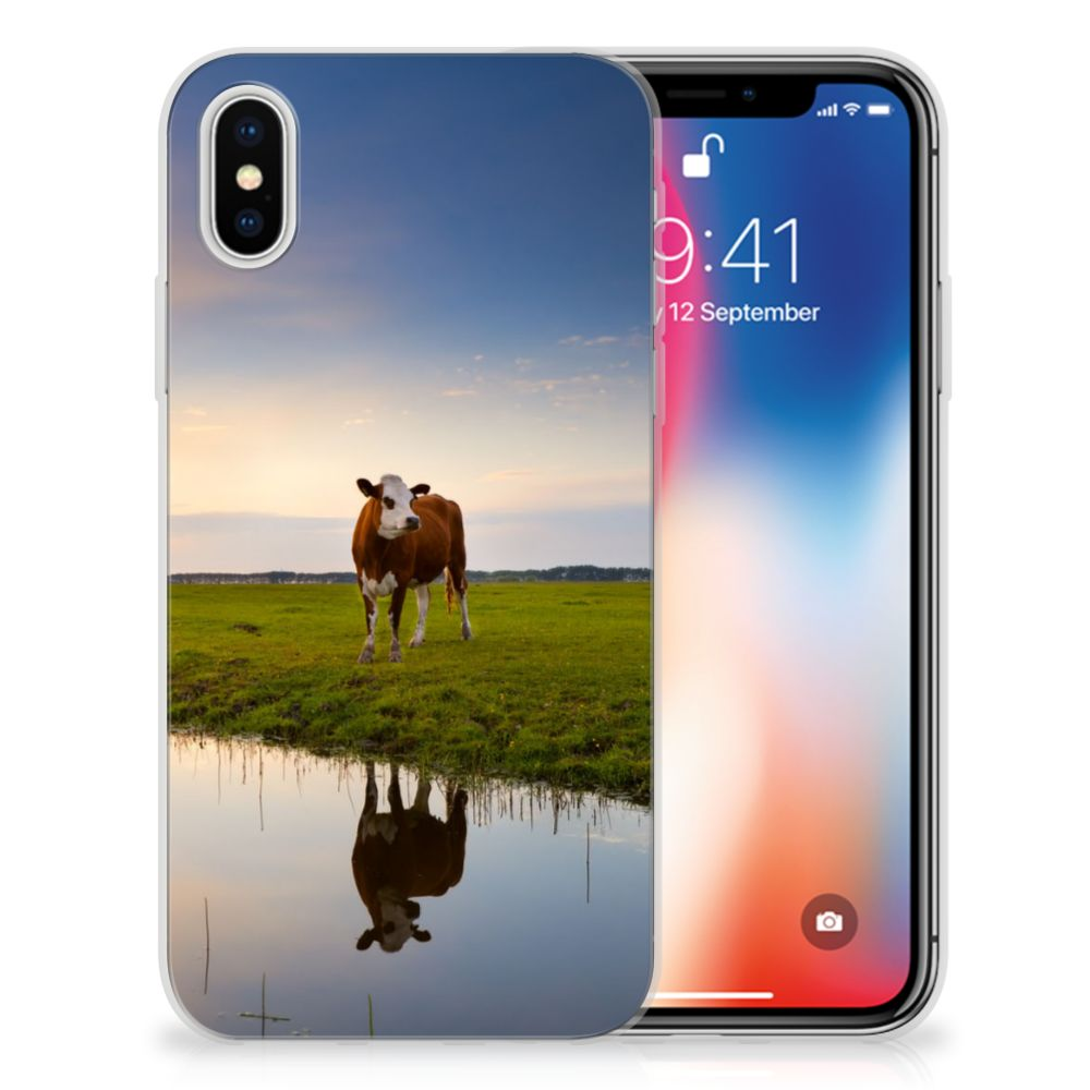 Apple iPhone X | Xs TPU Hoesje Design Koe