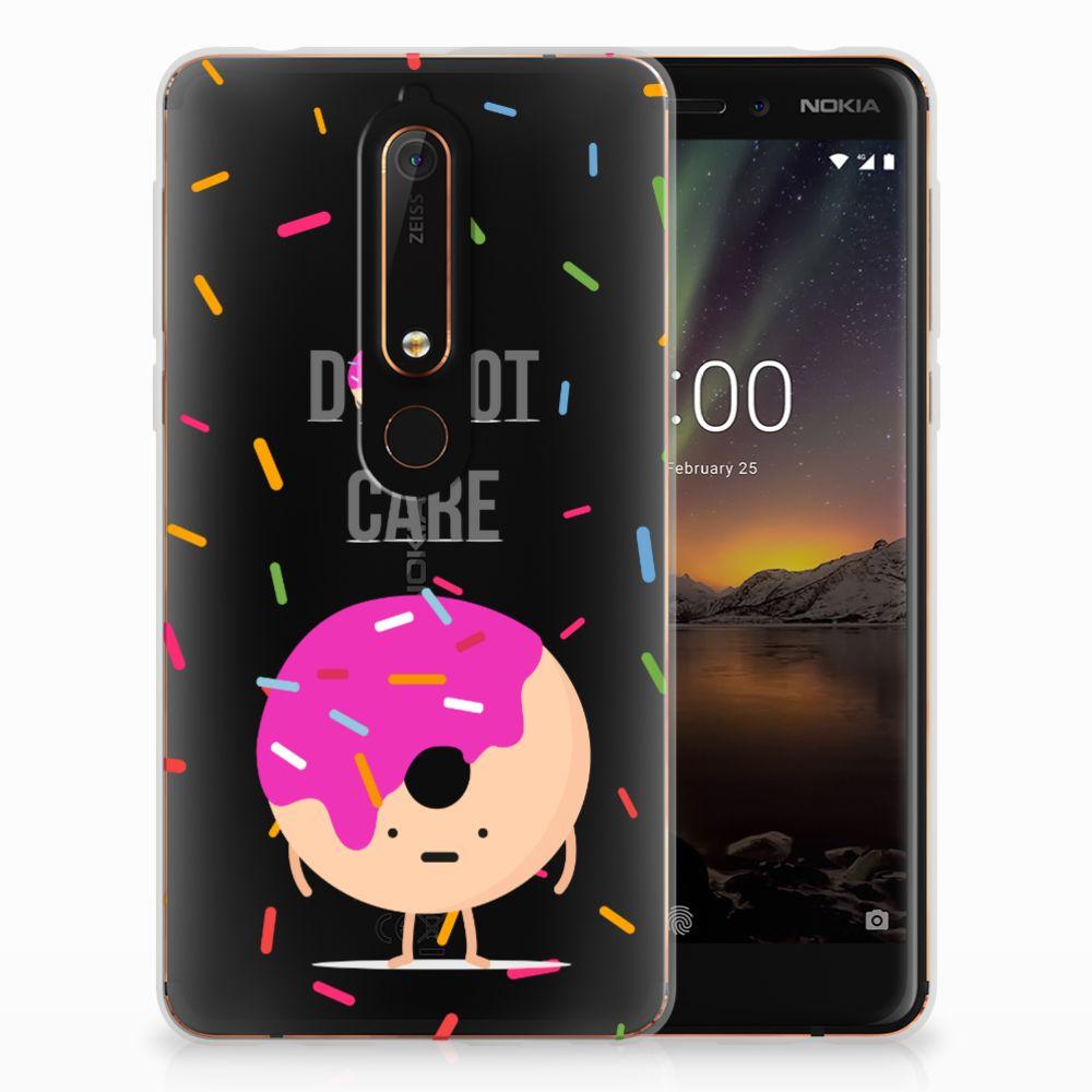 Nokia 6 (2018) Siliconen Case Donut Roze