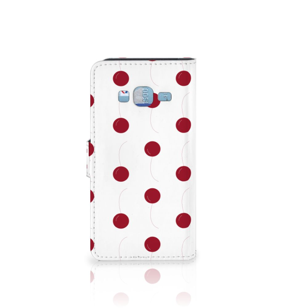 Samsung Galaxy J3 2016 Book Cover Cherries