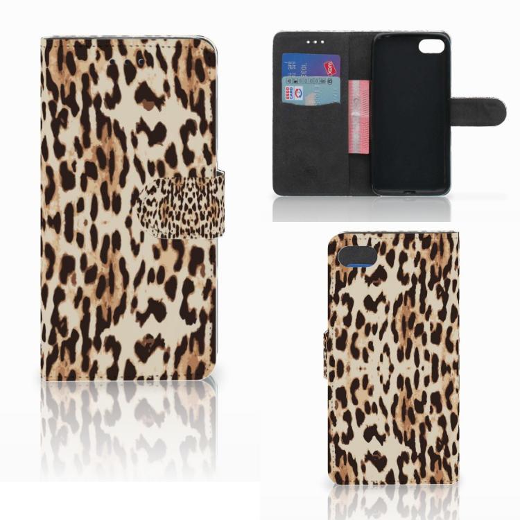 Huawei Y5 2018 Telefoonhoesje met Pasjes Leopard