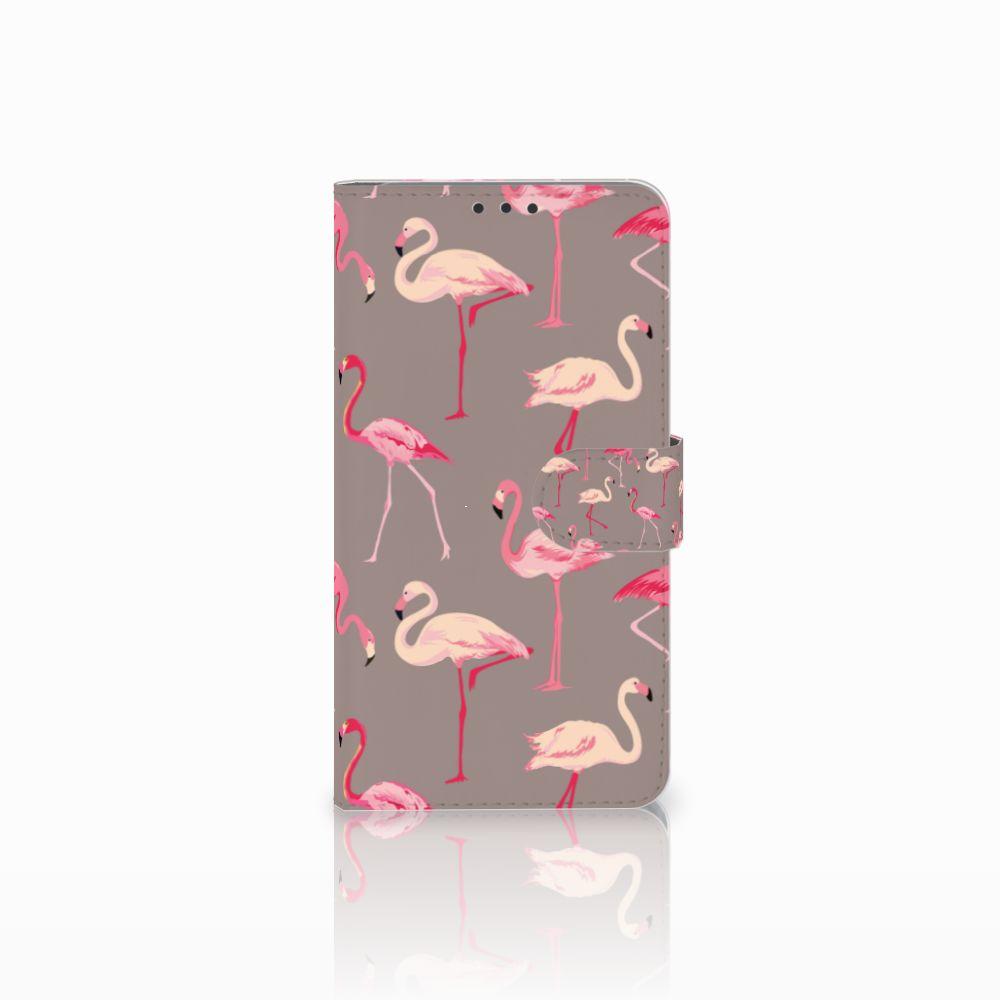 Microsoft Lumia 640 XL Telefoonhoesje met Pasjes Flamingo