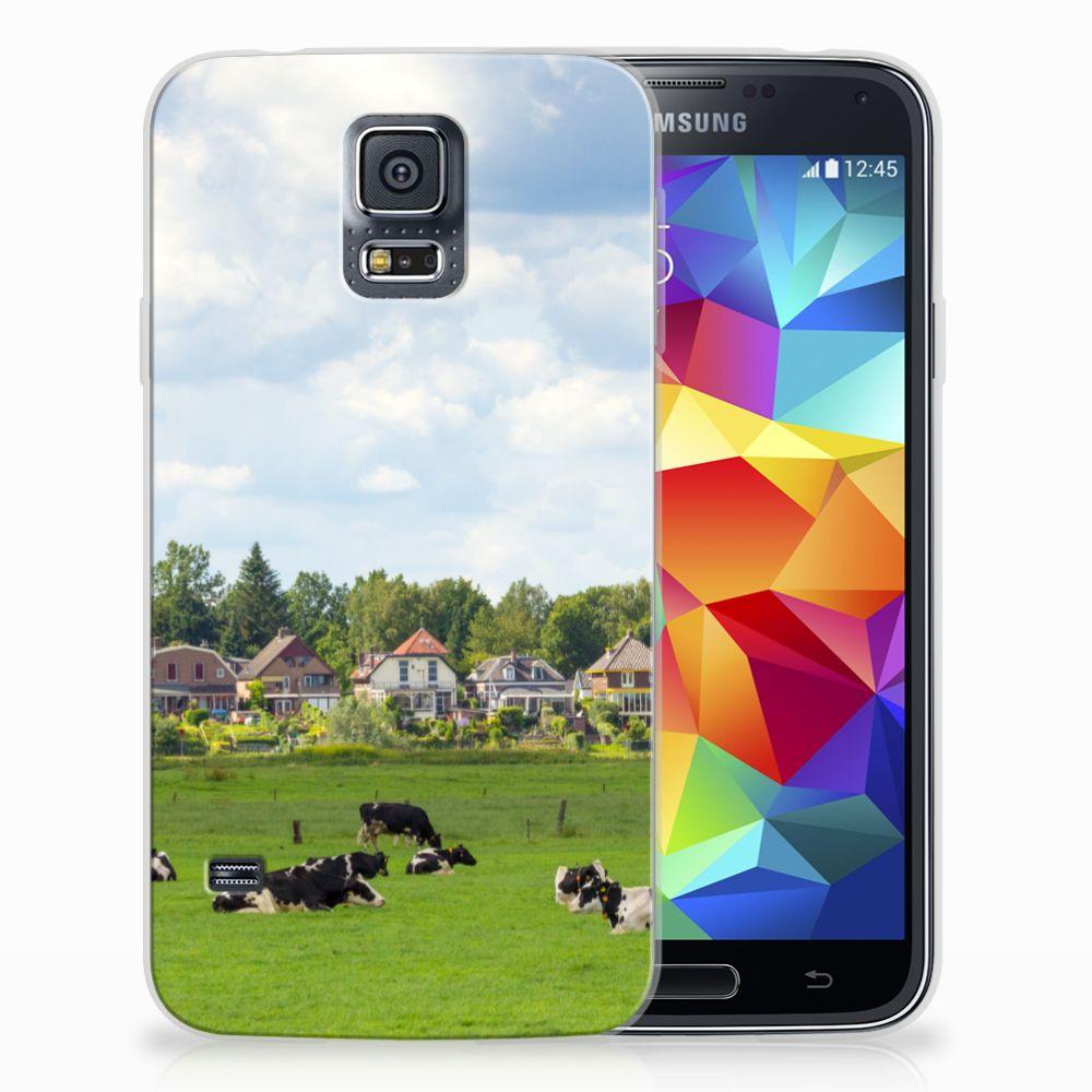 Samsung Galaxy S5 TPU Hoesje Koeien