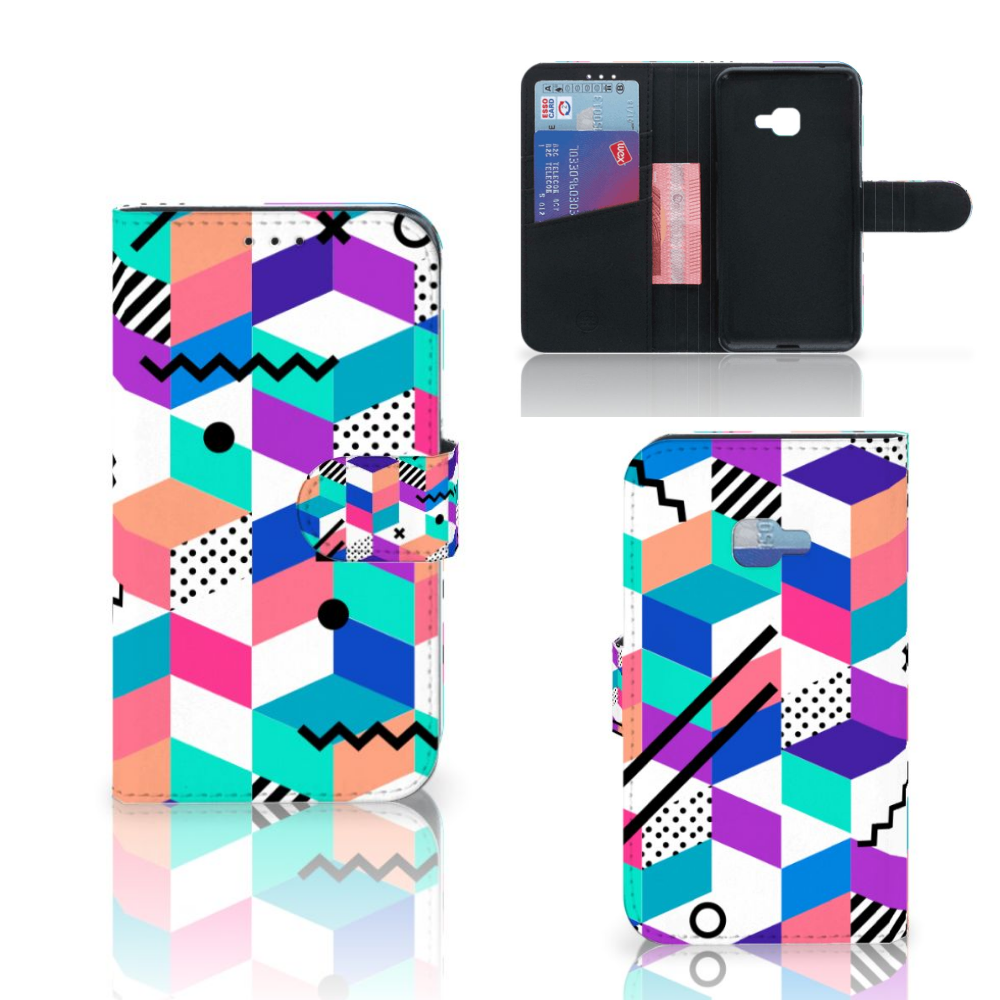 Samsung Galaxy Xcover 4 | Xcover 4s Bookcase Blokken Kleurrijk