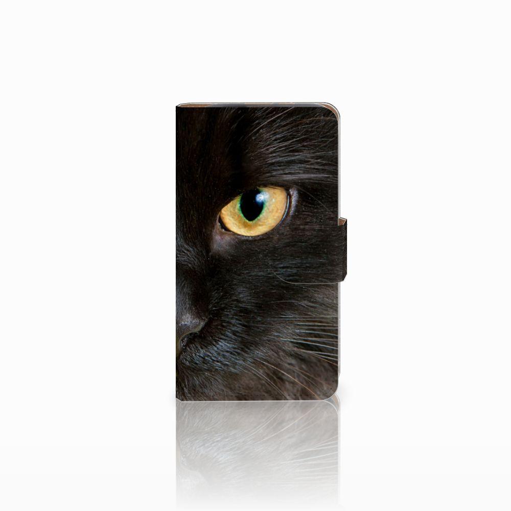 HTC Desire 310 Uniek Boekhoesje Zwarte Kat