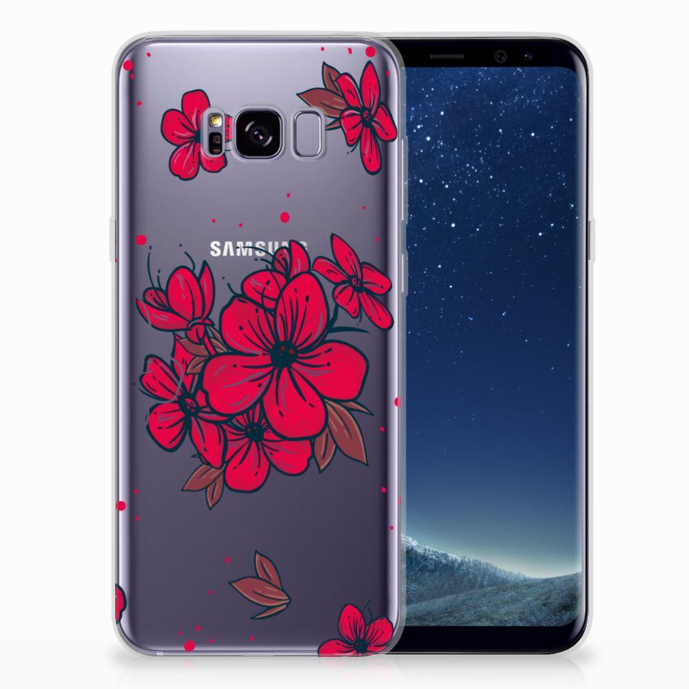 Samsung Galaxy S8 Plus TPU Hoesje Design Blossom Red