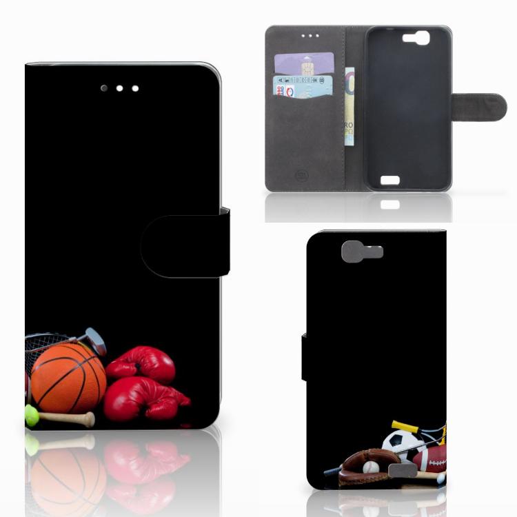 Huawei Ascend G7 Wallet Case met Pasjes Sports