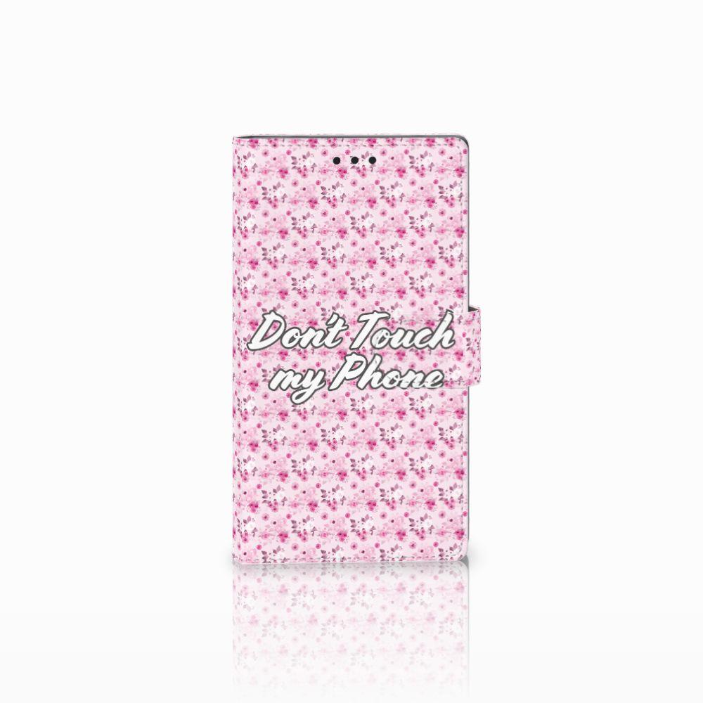 Sony Xperia L2 Uniek Boekhoesje Flowers Pink DTMP
