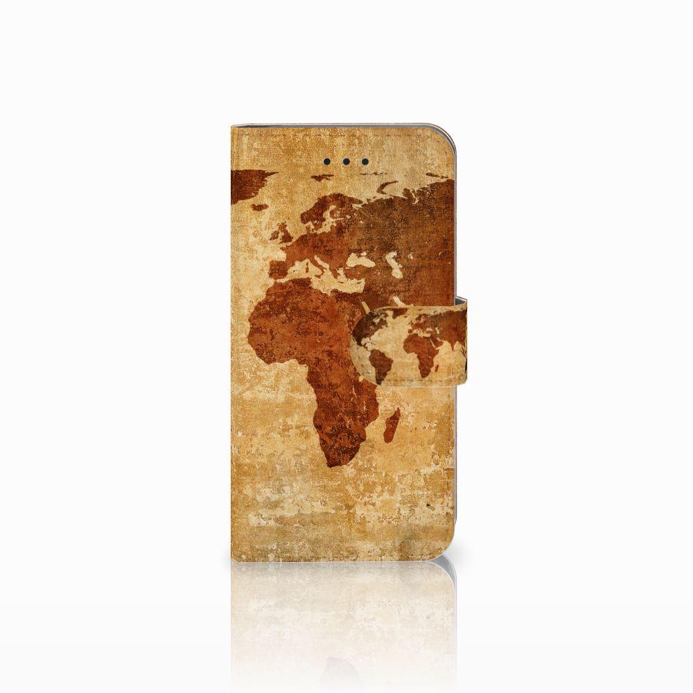 Apple iPhone X | Xs Boekhoesje Design Wereldkaart