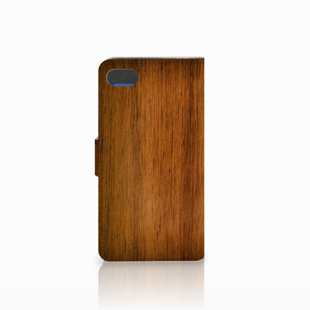 Huawei Y5 2018 Book Style Case Donker Hout