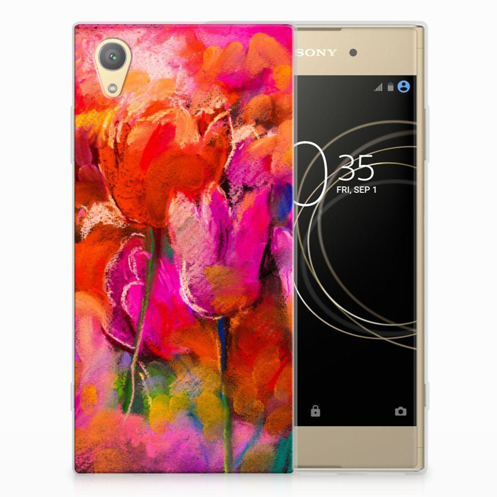 Sony Xperia XA1 Plus TPU Hoesje Design Tulips