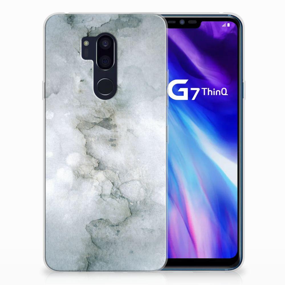 LG G7 Thinq Uniek TPU Hoesje Painting Grey