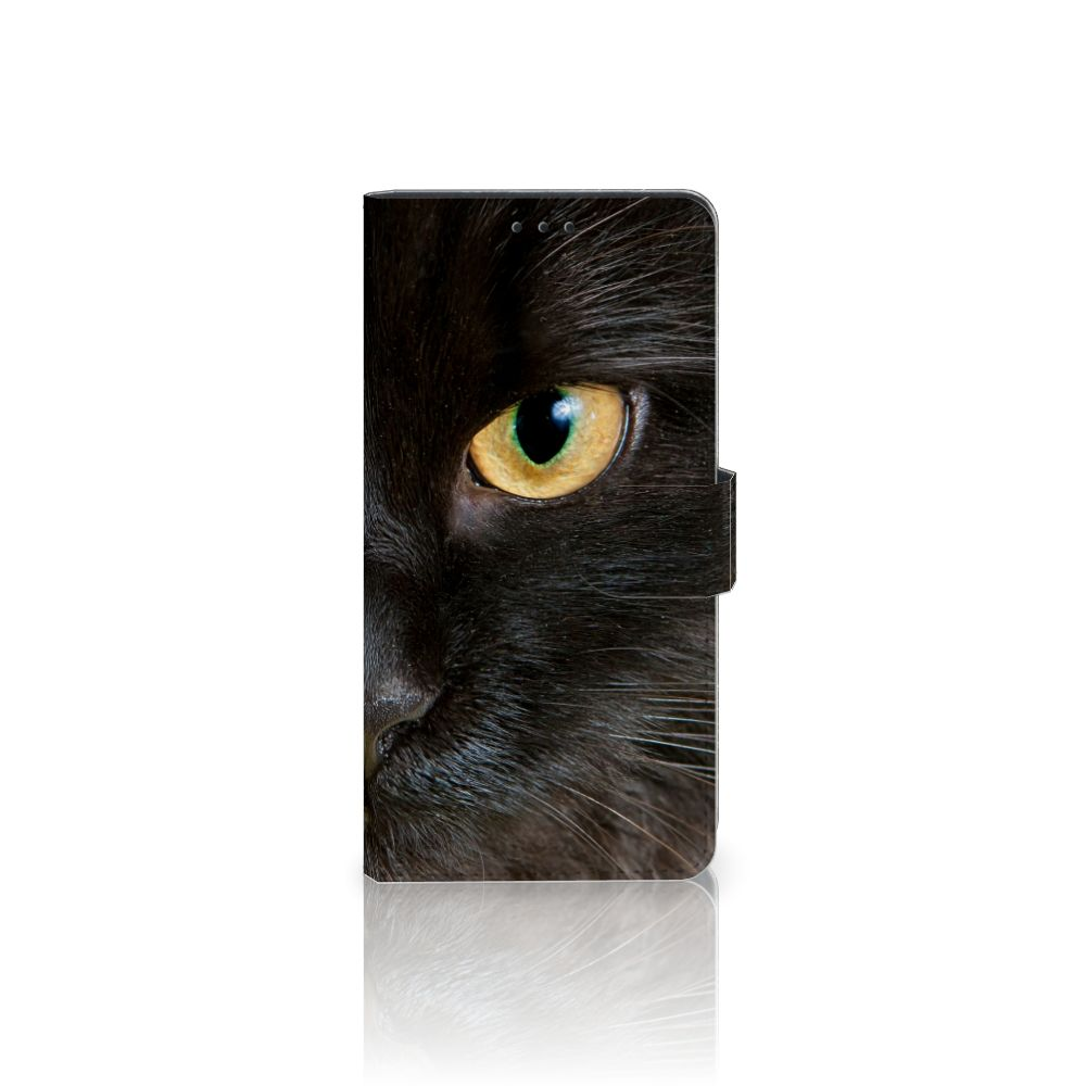 Sony Xperia XA1 Plus Uniek Boekhoesje Zwarte Kat