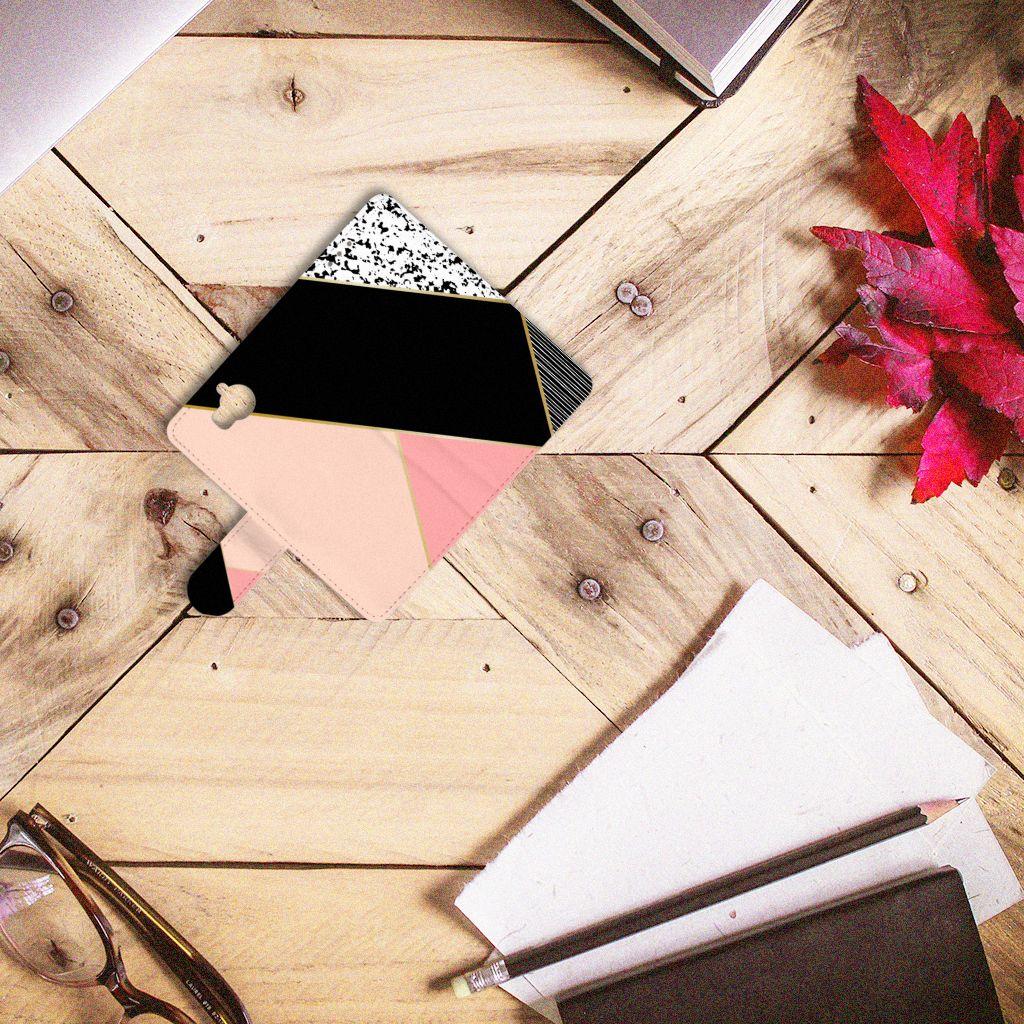 Huawei Y5 | Y6 2017 Bookcase Zwart Roze Vormen