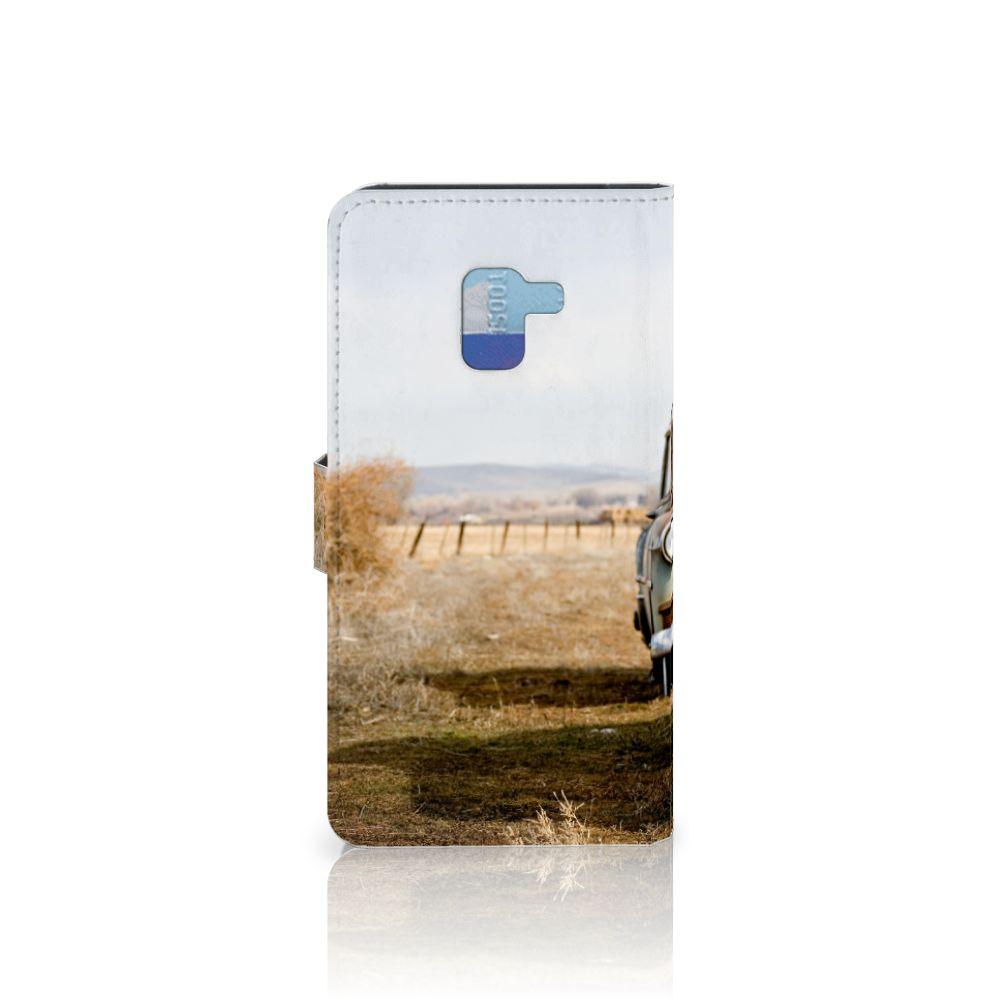 Samsung Galaxy A8 Plus (2018) Telefoonhoesje met foto Vintage Auto