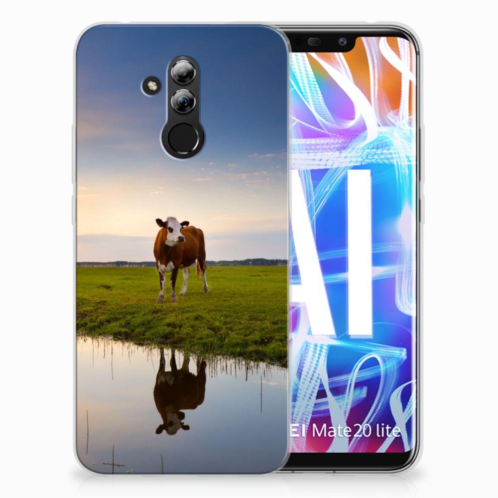 Huawei Mate 20 Lite TPU Hoesje Design Koe
