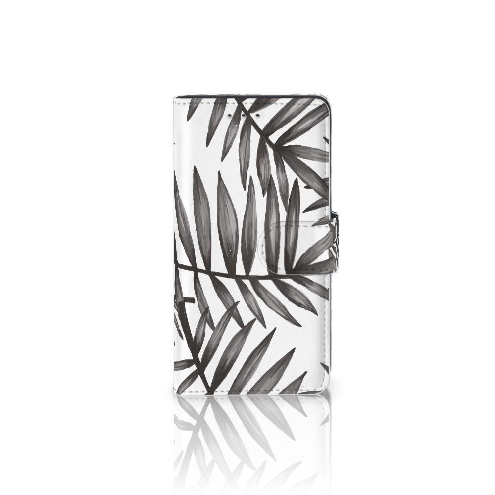 Motorola Moto G 3e Generatie Uniek Boekhoesje Leaves Grey