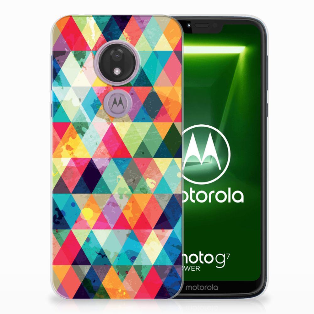 Motorola Moto G7 Power TPU bumper Geruit