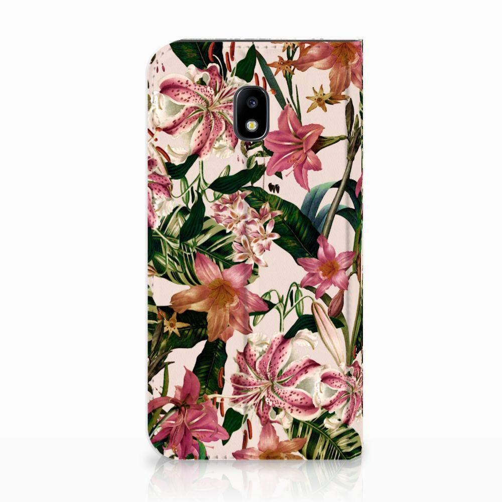 Samsung Galaxy J3 2017 Uniek Standcase Hoesje Flowers