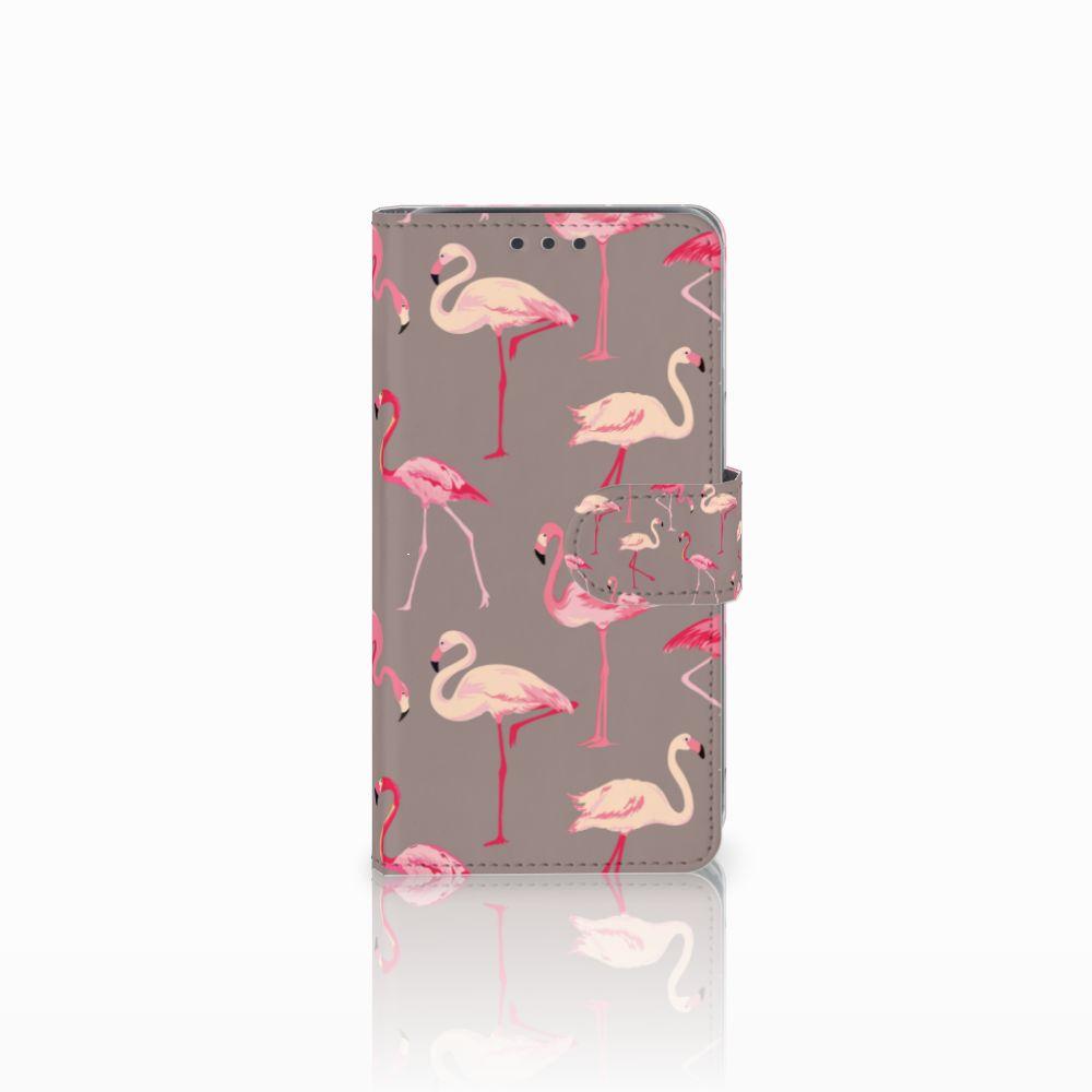 Samsung Galaxy J5 (2015) Uniek Boekhoesje Flamingo