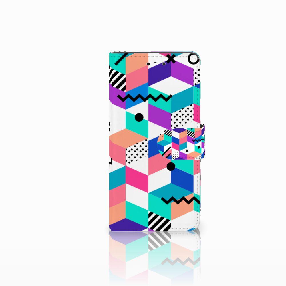 Huawei P8 Lite Smart (GR3) Bookcase Blokken Kleurrijk