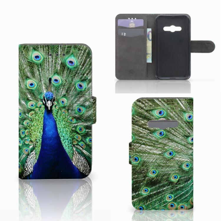 Samsung Galaxy Xcover 3 | Xcover 3 VE Telefoonhoesje met Pasjes Pauw