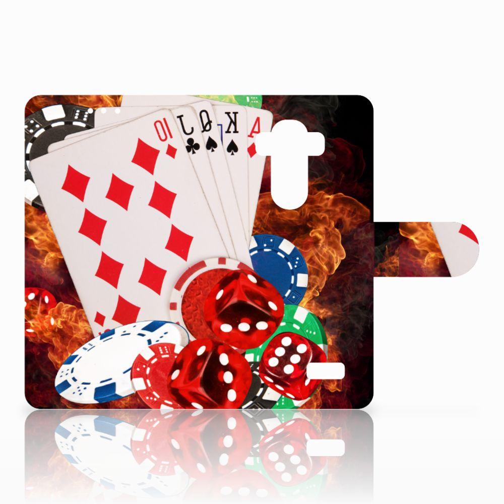 LG G4 Wallet Case met Pasjes Casino