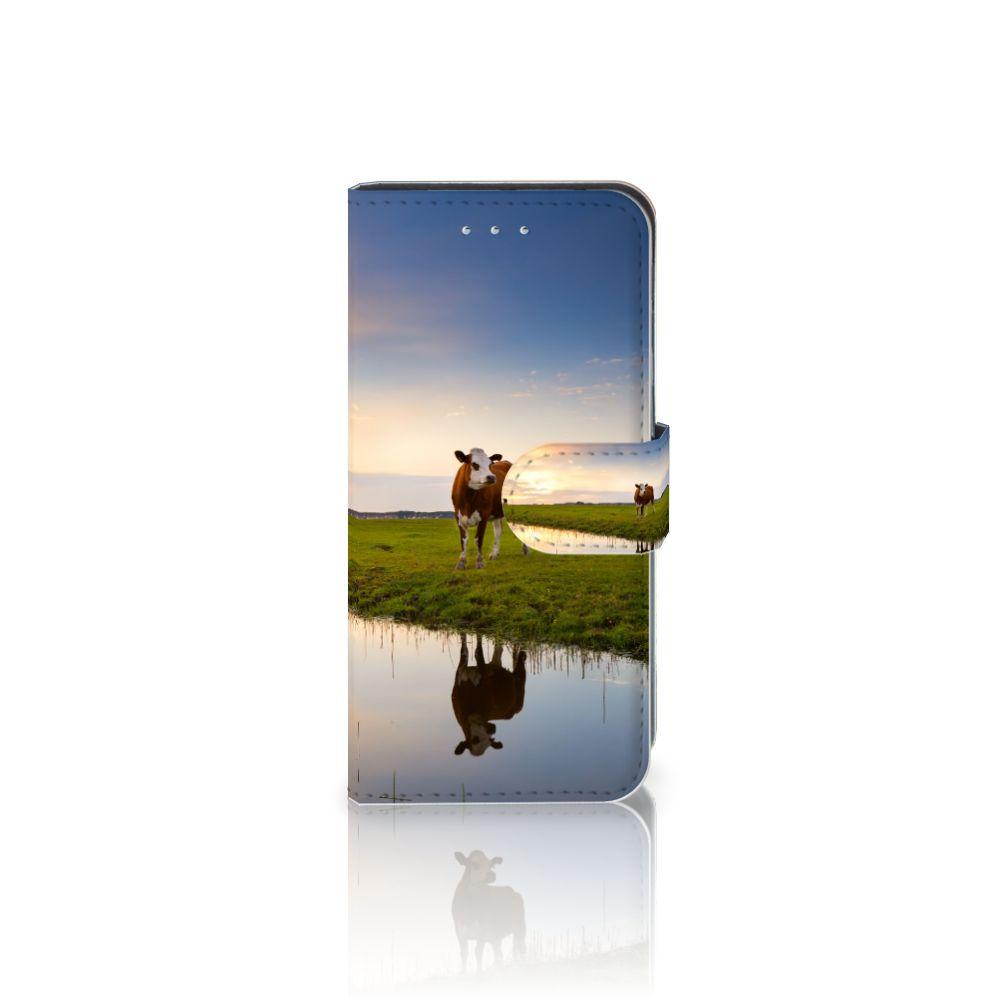 Samsung Galaxy S6 Edge Boekhoesje Design Koe