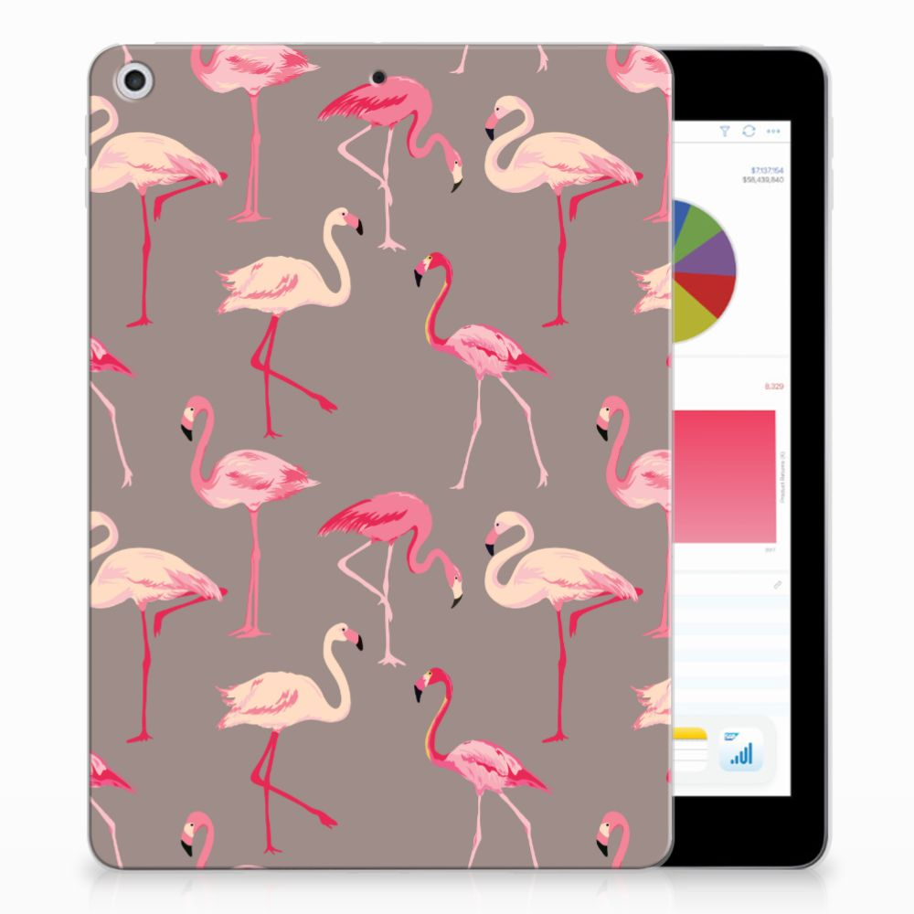 Apple iPad 9.7 2018 | 2017 Uniek Tablethoesje Flamingo