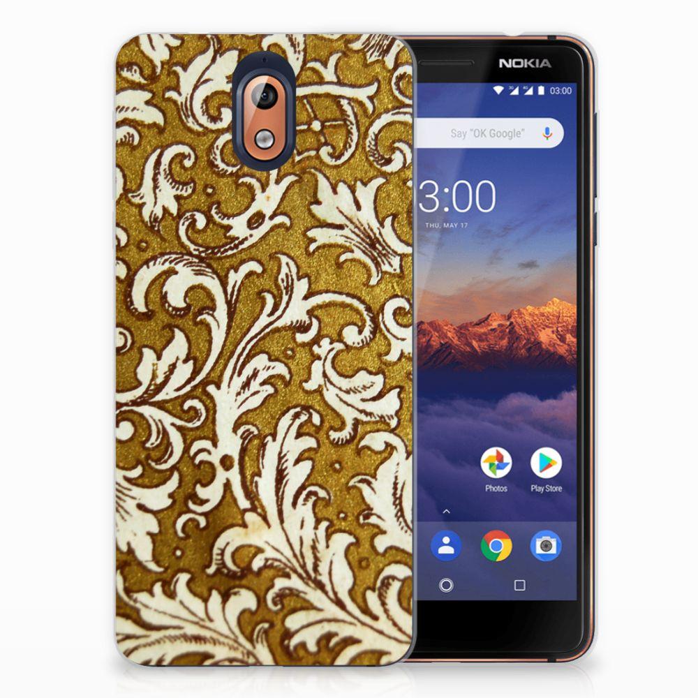 Nokia 3.1 (2018) TPU Hoesje Design Barok Goud