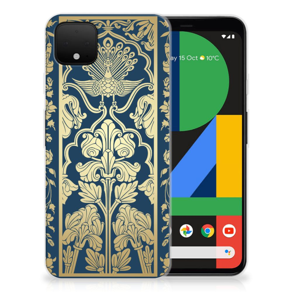 Google Pixel 4 XL TPU Case Golden Flowers