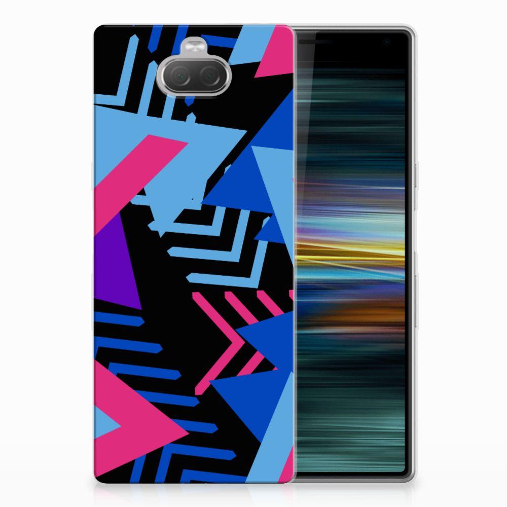 Sony Xperia 10 Plus TPU Hoesje Funky Triangle