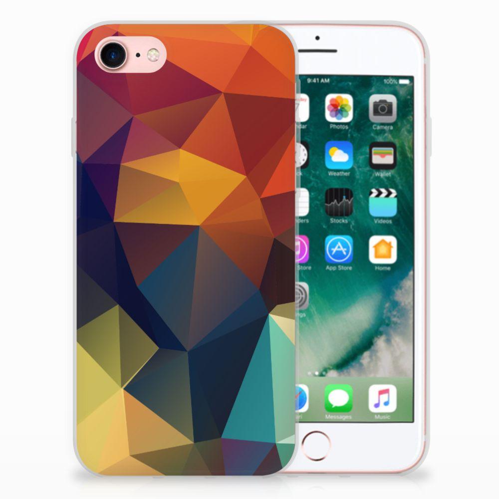 Apple iPhone 7 | 8 TPU Hoesje Design Polygon Color