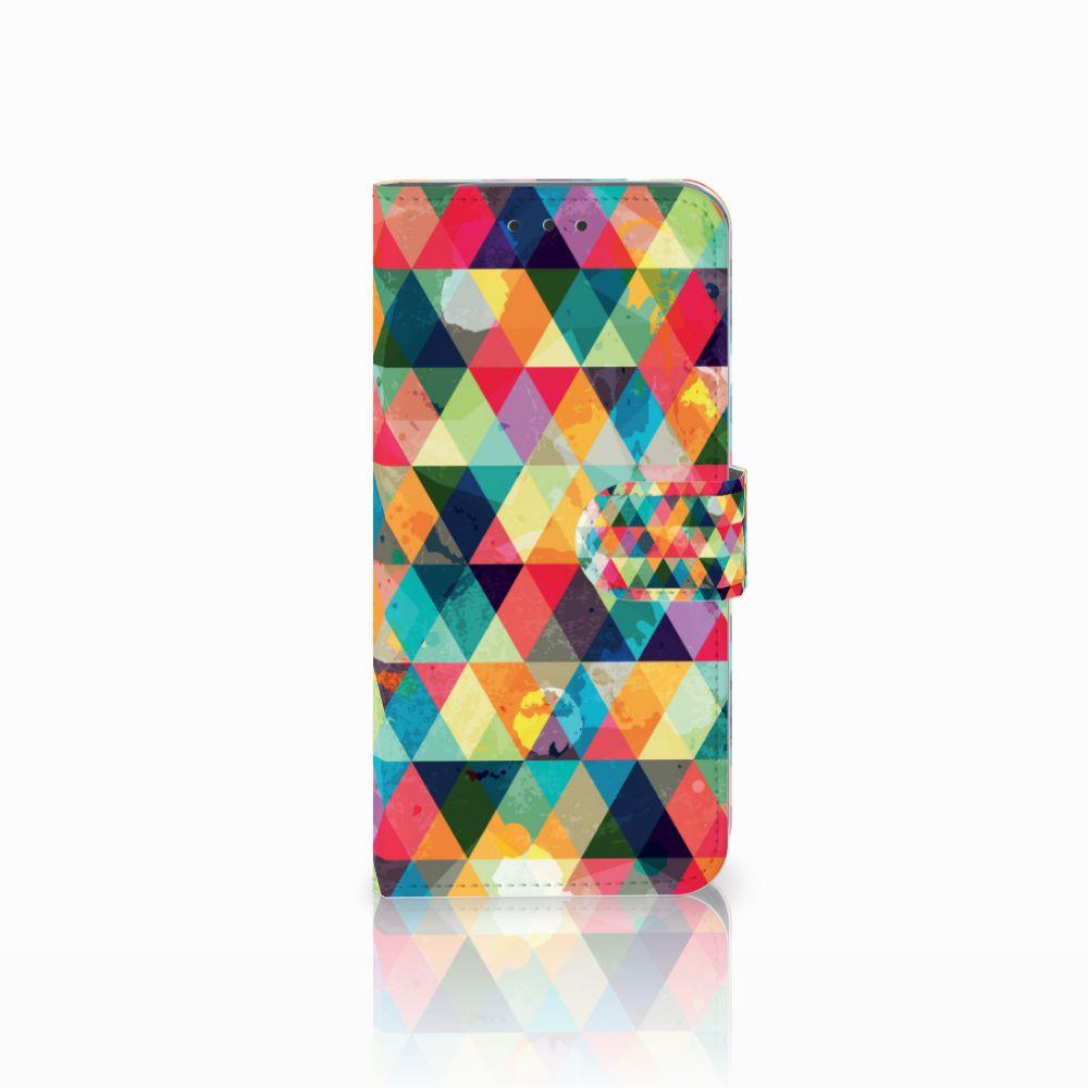 Motorola Moto G6 Play Uniek Boekhoesje Geruit