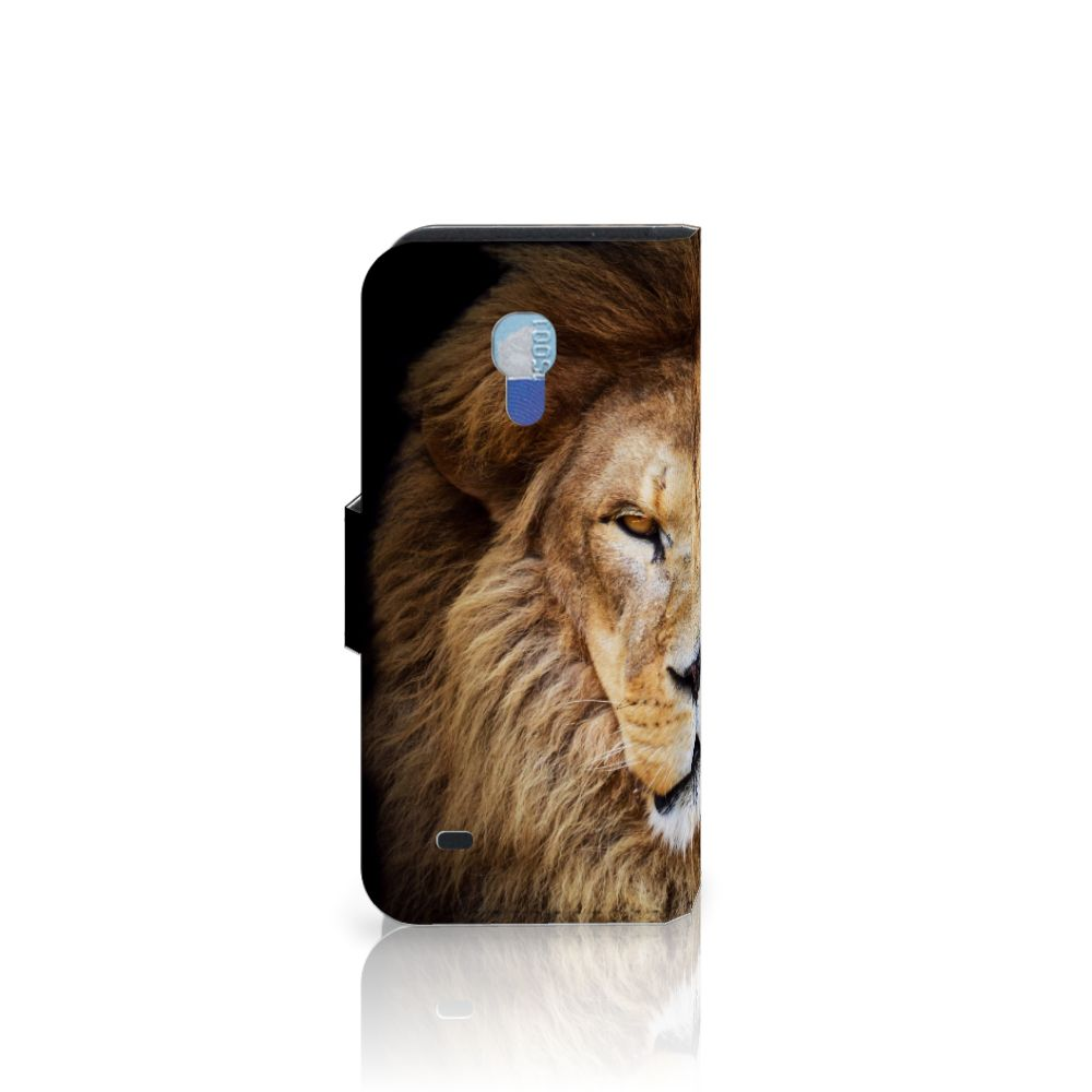 Samsung Galaxy S4 Mini i9190 Telefoonhoesje met Pasjes Leeuw