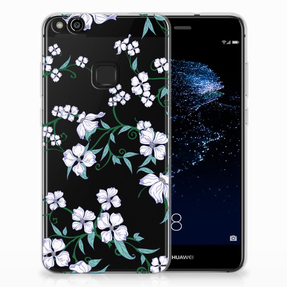 Huawei P10 Lite Uniek TPU Hoesje Blossom White