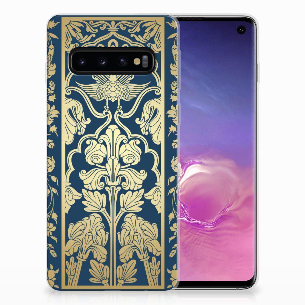 Samsung Galaxy S10 TPU Case Golden Flowers